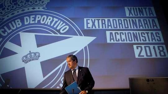 El presidente del Deportivo garantizó la viabilidad del club. EFE