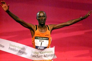 El atleta keniano Wilfred Kigen es fotografiado durante una de sus carreras. EFE/Archivo