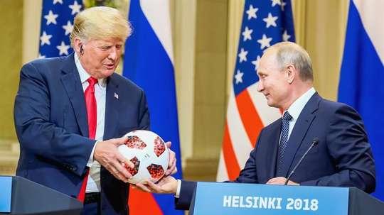 Trump y Putin tuvieron una reunión en Helsinki, Finlandia. EFE