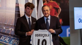Alvaro Odriozola was unveiled as a Real Madrid player. RealMadridCF