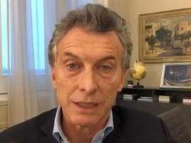 Macri espera que el Mundial de 2030 sirva como nexo de unión. EFE