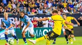 Götze anotó el gol del triunfo del Borussia. EFE
