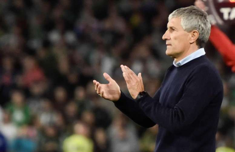 Barca remembered Setien's declaration of love for Cruyff's football. EFE/Archivo