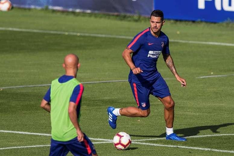 O médio do Atlético, Vitolo Machín.  EFE