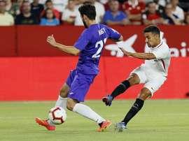 Le joueur de Séville a marqué lors du match aller. EFE