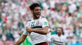 El mexicano es feliz en la MLS y no piensa en volver al Viejo Continente. EFE