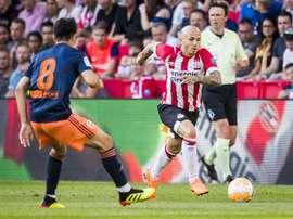 El Valencia cayó en su enfrentamiento contra el PSV. EFE