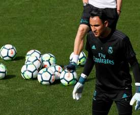 Keylor didn't enjoy the best of games against Atletico. EFE