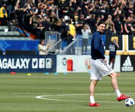 Ibra scored his first hatrick in the MLS in a win over Orlando City. EFE