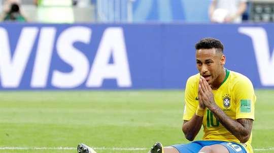Neymar revient sur le Mondial et ses simulations. EFE