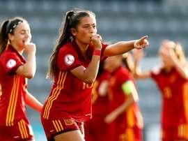 Maria Llompart se convirtió en la estrella de la final. EFE