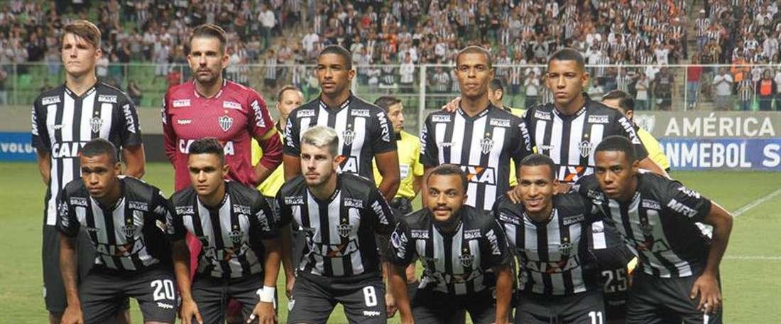 Con el empate, Atlético Mineiro baja a la cuarta plaza. EFE