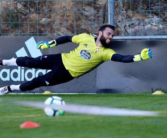 Sergio Álvarez, premier blessé au Celta. EFE