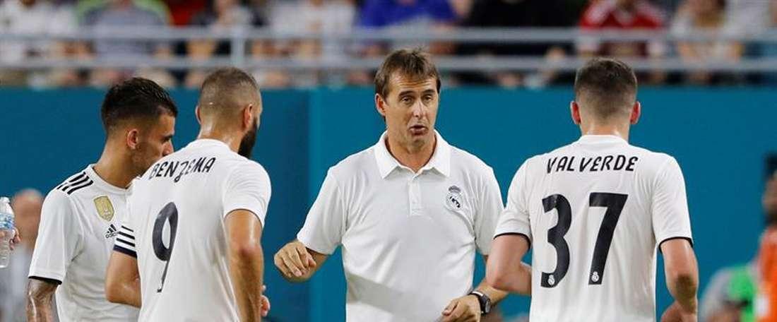 L'entraîneur a donné des minutes à cinq réservistes. EFE