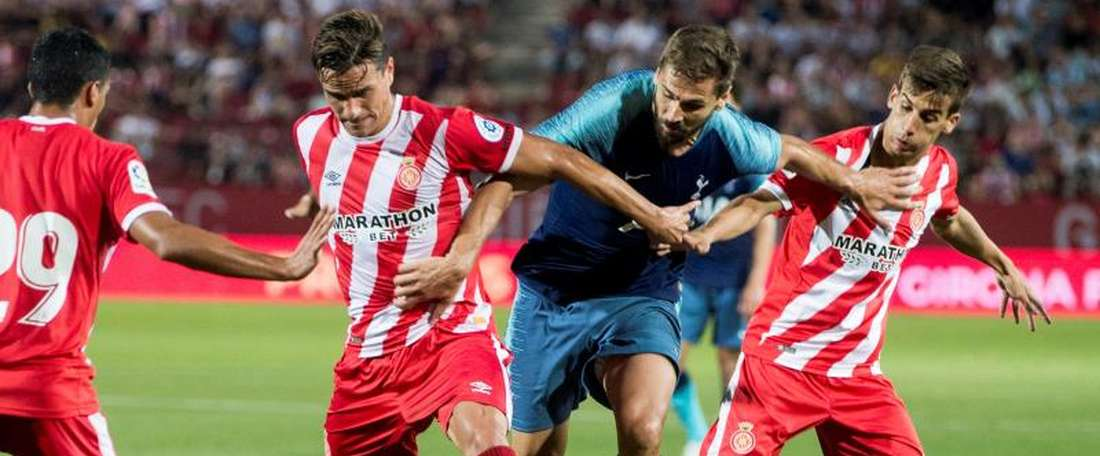 Spurs were heavily beaten by Spanish side Girona. EFE