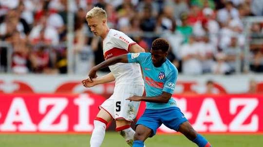El Atlético no pasó del empate ante el Stuttgart. EFE