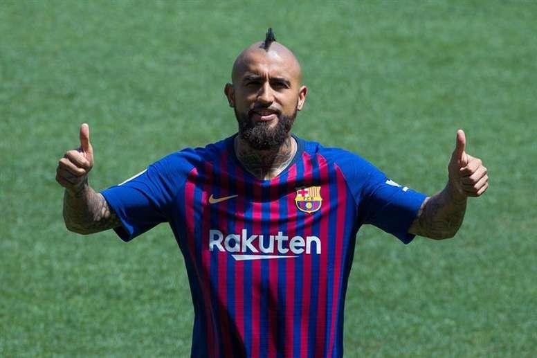 'Rei' Arturo já vestiu a camisa do Barcelona. EFE