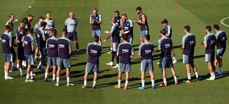 El Barcelona no entrenaba con todos desde la pasada campaña. EFE
