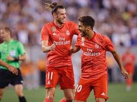 Bale y Asensio se ejercitaron en el gimnasio. EFE