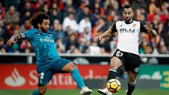 Montoya battles against Marcelo. EFE