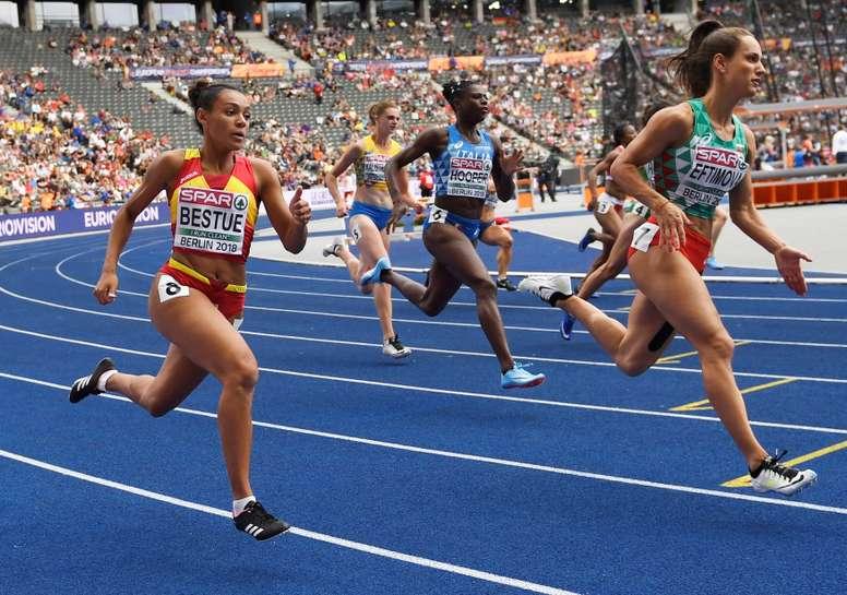 La española Jael Bestue, en la serie clasificatoria de los 200m femeninos de los europeos de Berlín. EFE