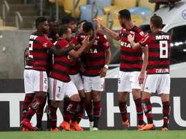 Flamengo quiere seguir en la lucha por el título. EFE