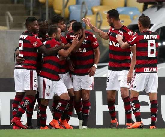 Flamengo celebran un gol. EFE/Archivo