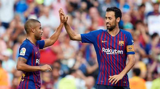 Barcelona Rafinha Alcántara trofeo Joan Gamper. AFP