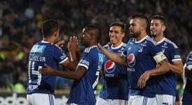 Millonarios solventó el partido desde el punto de penalti. EFE
