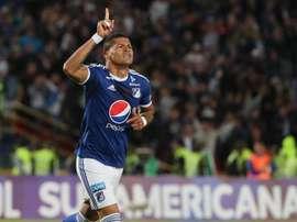 Ayron del Valle anotó los dos goles del duelo. EFE