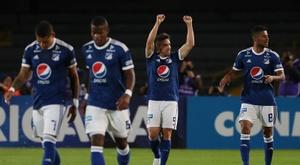 Millonarios se llevó el partido en casa por 2-0 ante Boyacá Chico. EFE