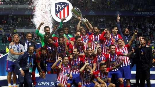 Jugadores y parte importante de la directiva celebraron la victoria en un restaurante de Madrid. EFE