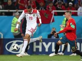 En-Nesyri jugó con Marruecos en los dos duelos ante Comoras. EFE/Archivo