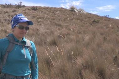 La montañista ecuatoriana Carla Pérez. EFE