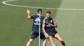 Le groupe du Real Madrid pour dimanche. EFE