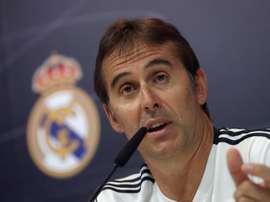 O treinador do Real Madrid, Julen Lopetegui na conferencia de imprensa antes do jogo da laliga. EFE