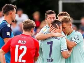 'Lewa' deu a vitória ao Bayern Munique. EFE/EPA