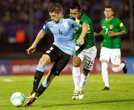 Fede Valverde jugó ocho minutos ante México. EFE