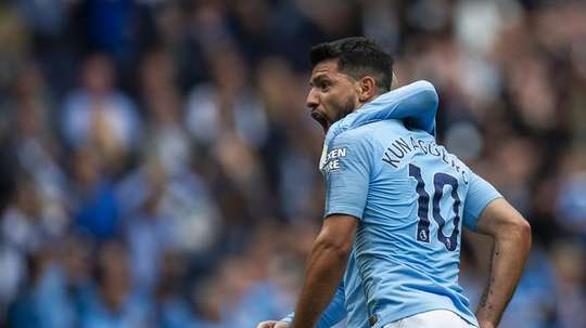 Aguero scored a hat-trick against Huddersfield on Saturday. EFE