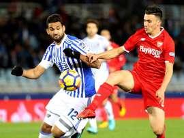 Corchia salió tras no terminar de convencer en el Sevilla. EFE