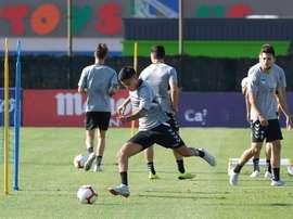 Leo Suárez afina la puntería para Sevilla. EFE