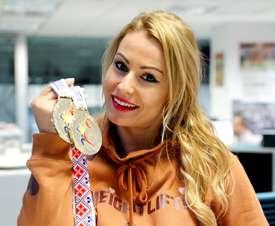 La medallista olímpica, campeona del mundo y cuatro veces campeona de Europa en halterofilia, Lydia Valentín. EFE/Archivo