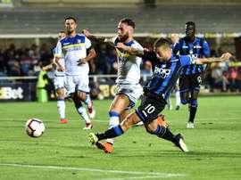 El 'Papu' Gómez le dio el triunfo al Atalanta ante el Frosinone. EFE