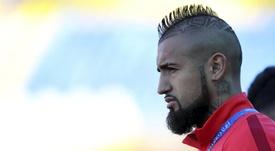 Vidal regresó más calmado a Barcelona. EFE/Archivo