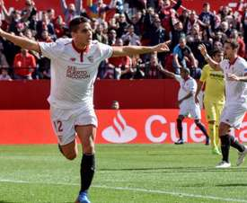 Ben Yedder suma 16 goles con el Sevilla en Europa. EFE