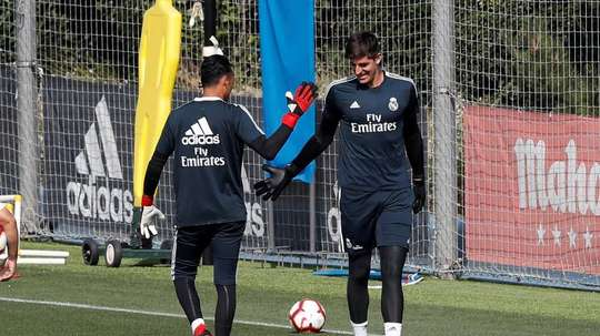 A briga pela titularidade é grande no gol do Real Madrid. EFE