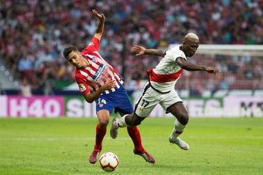 El Atlético se resiente cuando falta Rodri. EFE