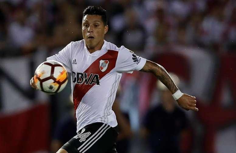Enzo Pérez se perderá los dos próximos compromisos de River. EF