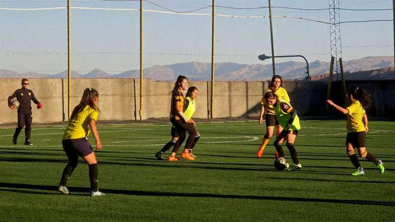 Women's football is on the rise due to new rules. EFE