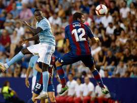 Pione Sisto did not do Celta's training exercises during the lockdown. EFE